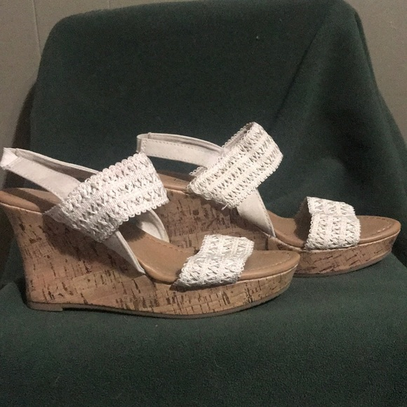 American Eagle Outfitters Shoes - Cream colored wedges